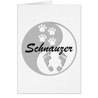 yin yang schnauzer greeting cards