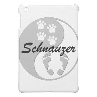 yin yang schnauzer iPad mini cover