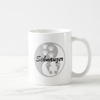 yin yang schnauzer mugs