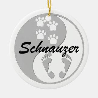 yin yang schnauzer ornaments