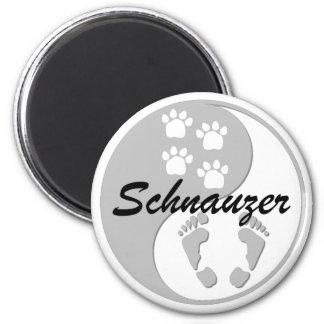 yin yang schnauzer refrigerator magnet