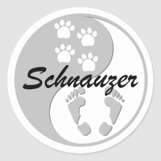 yin yang schnauzer stickers
