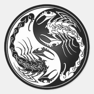 Yin Yang Scorpions Stickers