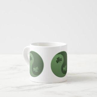 Yin Yang Shamrocks Espresso Cup
