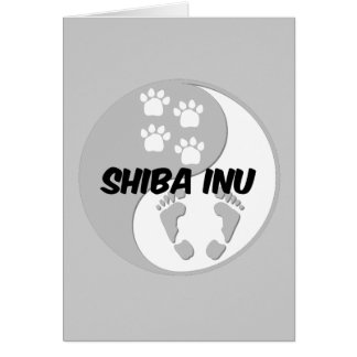 yin yang shiba inu greeting card