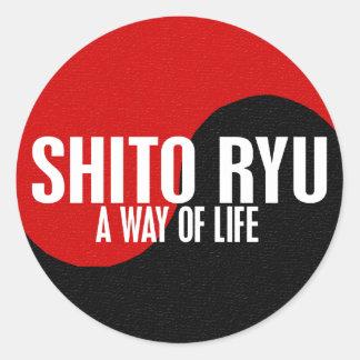 Yin Yang Shito Ryu 1 Classic Round Sticker
