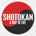 Yin Yang Shotokan 1 Pegatina Redonda