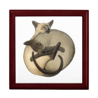 Yin Yang Siamese Cats Gift Box
