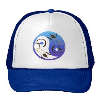 Yin Yang Siamese Cats Hat