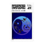 Yin Yang Siamese Cats Postage