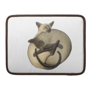 Yin Yang Siamese Cats Rickshaw Flap Sleeve Sleeves For MacBooks
