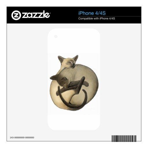 Yin Yang Siamese Cats Zazzle Skin Skins For iPhone 4S