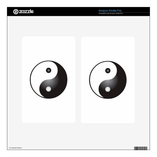 Yin Yang Sign: Kindle Fire Decal