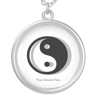 Yin Yang Silhouette Necklace