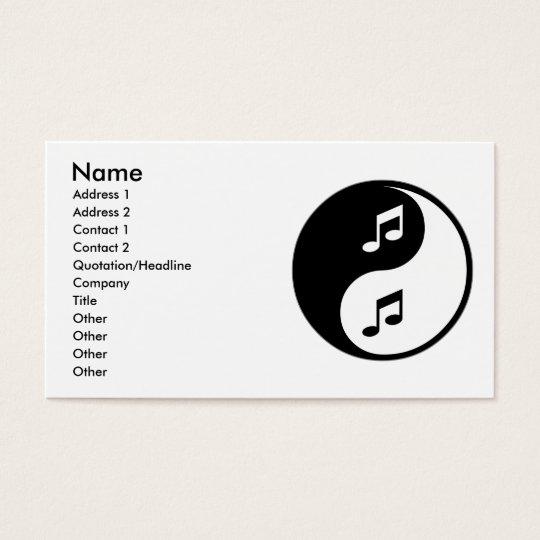 Yin Yang Singing Business Card