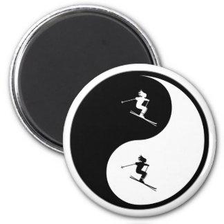 Yin Yang Skiing Magnets