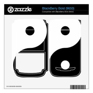 Yin Yang BlackBerry Decals