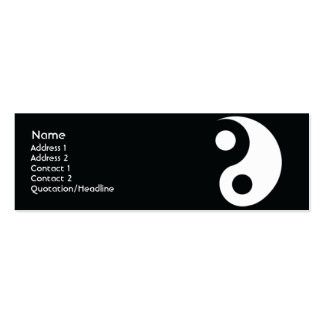 Yin Yang - Skinny Double-Sided Mini Business Cards (Pack Of 20)