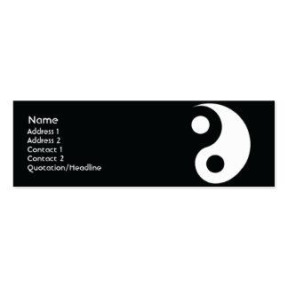 Yin Yang - Skinny Mini Business Card