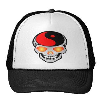 Yin-Yang Skull Tattoo Hats