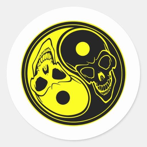 Yin Yang Skull Tattoo