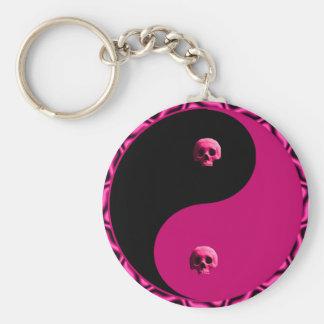 Yin Yang Skulls Keychain