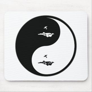 Yin Yang Skydiving Mouse Pads