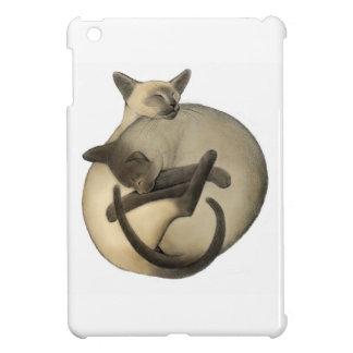 Yin Yang Sleeping Siamese Cats iPad Mini Case