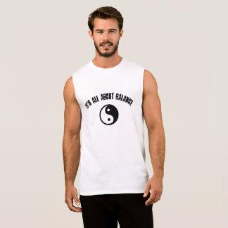 Yin Yang Sleeveless Men's T-Shirt