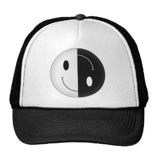 Yin Yang Smiley Mesh Hats