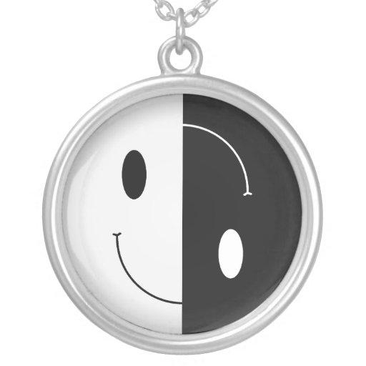 Yin Yang Smiley Pendant
