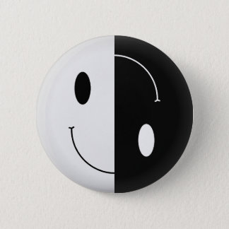 Yin Yang Smiley Pinback Button