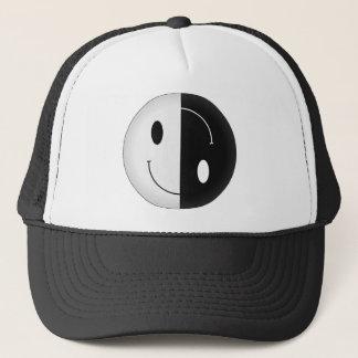 Yin Yang Smiley Trucker Hat
