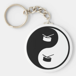 Yin Yang Snare Drum Keychain