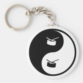 Yin Yang Snare Drum Keychain