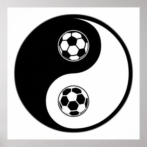 Yin Yang Soccer Poster