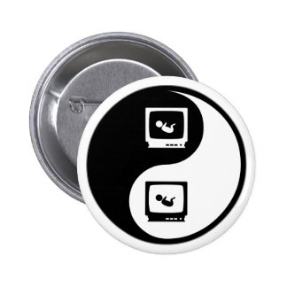 Yin Yang Sonograms 2 Inch Round Button