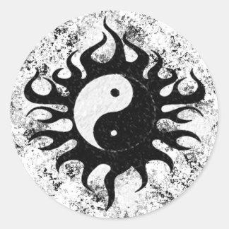 Yin Yang Splatter Classic Round Sticker