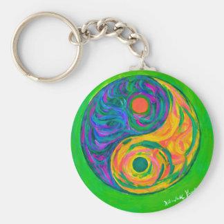 Yin Yang Spring Keychain