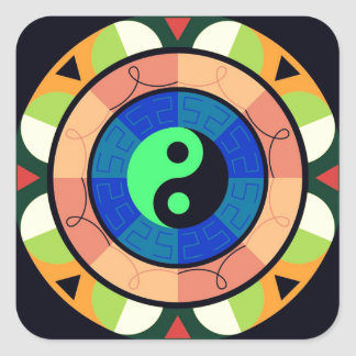 Yin Yang ! Square Sticker