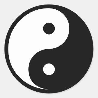 Yin Yang Round Stickers