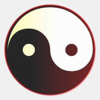 Yin & Yang Round Sticker