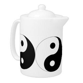 YIN YANG (STYLISH BLACK AND WHITE) Teapot
