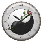 Yin Yang subió Relojes De Pared