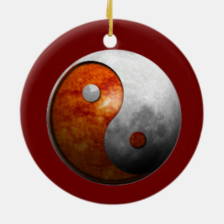 Yin Yang Sun and Moon Customize It Christmas Tree Ornament
