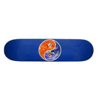 YIN-YANG SUN EARTH CUSTOM SKATE BOARD