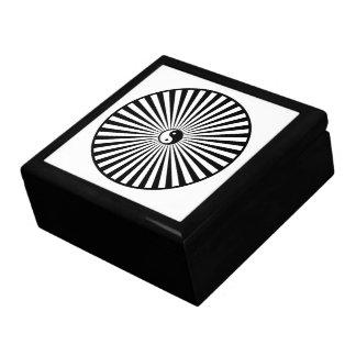 Yin-Yang Sun Wheel-Black and White Gift Boxes