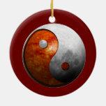 Yin Yang Sun y luna (personalizar él!) Ornamento De Reyes Magos
