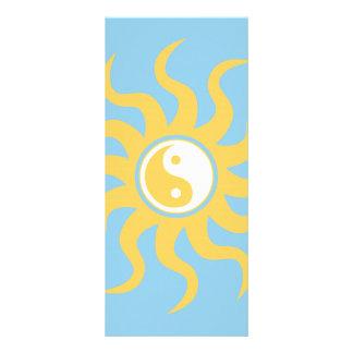 Yin yang sunshine rack card