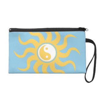 Yin yang sunshine wristlet purse